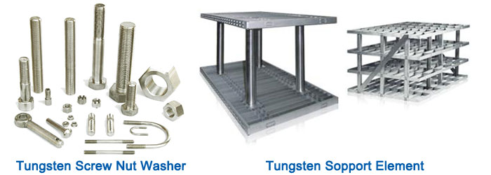 Tungsten Support Element, Tungsten Screw Nut Washer